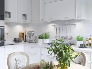 Квартира на Ломоносовском проспекте: Кухни в . Автор – 3D GROUP