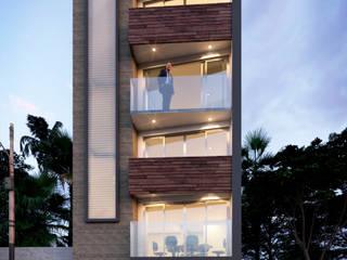 OFICINAS GM CONSTRUCCIONES: Casas de estilo  por AP Arquitectura