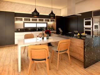 COCINA CONTEMPORÁNEA: Cocinas equipadas de estilo  por AP Arquitectura