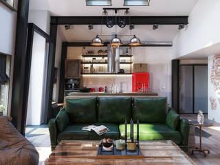 : Гостиная в . Автор – Loft&Home