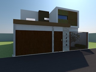 Fachada: Casas multifamiliares de estilo  por Constru-Acción
