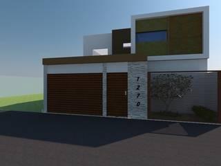 fachada: Casas de estilo moderno por Constru-Acción