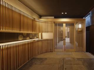 空間工房 用舎行蔵 一級建築士事務所 Asian style corridor, hallway & stairs