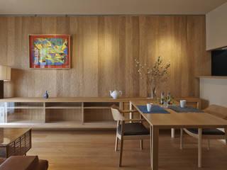 京都市I邸 マンションリノベ 和風デザインの リビング の 空間工房 用舎行蔵 一級建築士事務所 和風