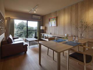 京都市I邸 マンションリノベ 和風デザインの ダイニング の 空間工房 用舎行蔵 一級建築士事務所 和風