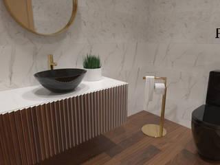 Valorize a sua casa de banho! por PEACOCK - Architecture & Interior Design Moderno