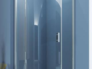 DUŞES KABİN SİSTEMLERİ SAN.TİC.LTD.ŞTİ. – Oval Tek Açılır Kapı: modern tarz Banyo