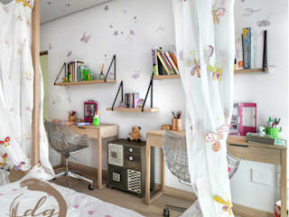 Deborah Garth Interior Design International (Pty)Ltd コロニアルデザイン 子供部屋 木 白色