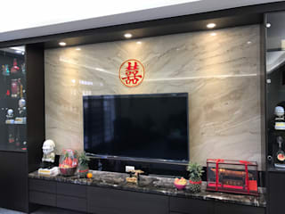 Living room by 寶樹堂營造工程,