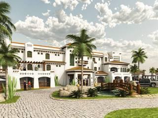 Hotel: Casas de estilo  por VISION+ARQUITECTOS