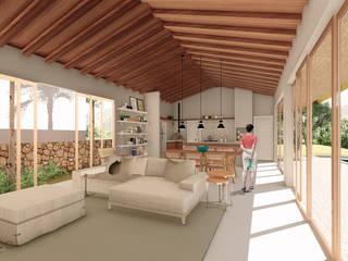 Casa Recanto Cozinhas rústicas por ARAMADO arquitetura+interiores Rústico