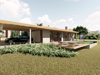 Rustikale Häuser von ARAMADO arquitetura+interiores Rustikal