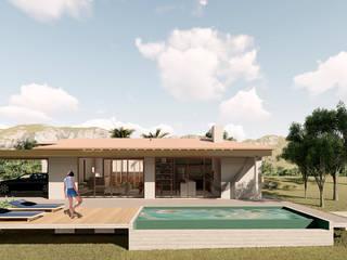 Casa Recanto por ARAMADO arquitetura+interiores Rústico