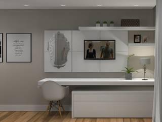 Projeto Quarto Casal Quartos modernos por Renata Monteiro Arquitetura e Interiores Moderno