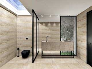 Projeto Lavabo Banheiros modernos por Renata Monteiro Arquitetura e Interiores Moderno