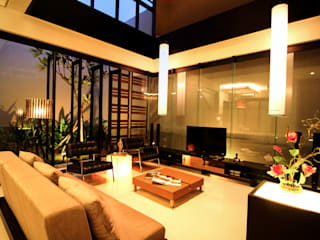 Tropical style living room by AIGI Architect + Associates Tropical