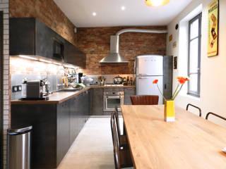 Maison style Loft Cuisine industrielle par Sacha Goutorbe | Architecte d'intérieur Industriel