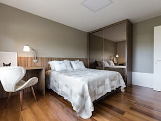 Rabisco Arquitetura Modern style bedroom MDF Wood effect