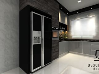 Proposed Concept Ideas for 2-Storey Terrace House at Tmn Bertam Ria Desquared Design Kitchen units Plywood Multicolored