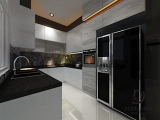 Proposed Concept Ideas for Condo Unit at Sierra East Desquared Design Kitchen units Quartz Grey