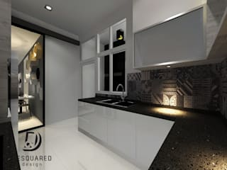 Proposed Concept Ideas for Condo Unit at Sierra East Desquared Design Kitchen units Plywood Grey