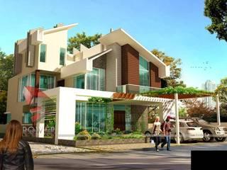 Casas modernas de S.R. Buildtech – The Gharexperts Moderno
