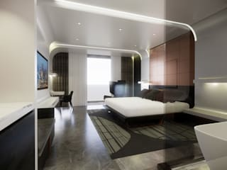 5 Star Hotel Deluxe Room:  Hotels by TheeAe Architects, Modern