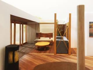 明るいリビングのインテリア。: 鎌倉住宅設計事務所 邸宅巣箱が手掛けたリビングです。