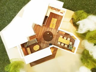 全体を上からみると。: 鎌倉住宅設計事務所 邸宅巣箱が手掛けた窓です。