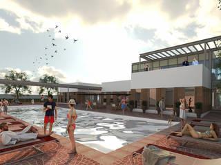 Salones de eventos de estilo  por MA Arquitectos, Moderno