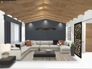 Sala principal : Salas de estilo ecléctico por Gaby Cons Deco & Handmade