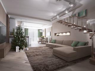 Phòng khách phong cách chiết trung bởi Alt дизайн Chiết trung
