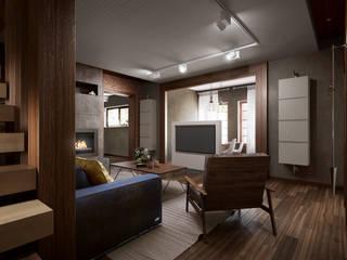 Phòng khách phong cách công nghiệp bởi Alt дизайн Công nghiệp