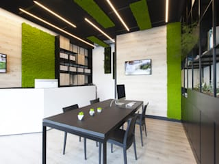 Showroom Soggiorno in stile industriale di AbitoVerde Industrial