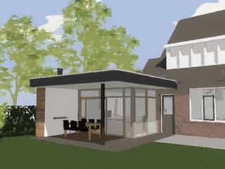 Uitbreiding woning Rosmalen: modern  door Bolier Ontwerp & Bouwregie, Modern