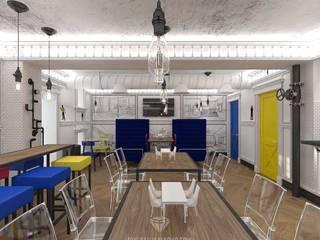 Cocinas de estilo industrial de Студия дизайна интерьера Руслана и Марии Грин Industrial