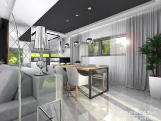 Salon z Kuchnią i Jadalnią: styl , w kategorii Jadalnia zaprojektowany przez Projektowanie Wnętrz Online