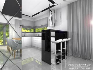 Salon z Kuchnią i Jadalnią: styl , w kategorii Kuchnia zaprojektowany przez Projektowanie Wnętrz Online