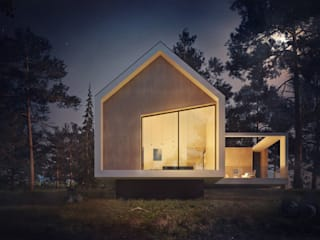 Dom jednorodzinny na skarpie w Szczecinie: styl , w kategorii  zaprojektowany przez 4Q DEKTON Pracownia Architektoniczna