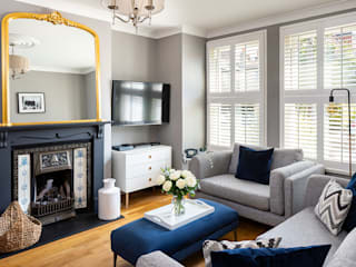 Could this be Twickenham's Most Stylish Home? Plantation Shutters Ltd Modern living room Wood White