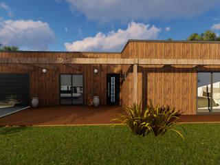 من Discovercasa | Casas de Madeira & Modulares حداثي خشب Wood effect