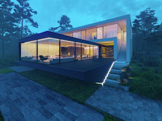 House in the forest 2.0:  в . Автор – ALEXANDER ZHIDKOV ARCHITECT,