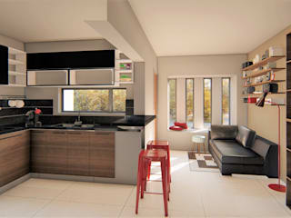 casa bioclimatica Casas minimalistas de steel Minimalista