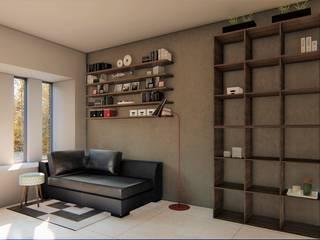 casa bioclimatica Salones minimalistas de steel Minimalista