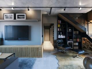 Apartamento 04: Salas de estar  por Entreponto Arquitetura