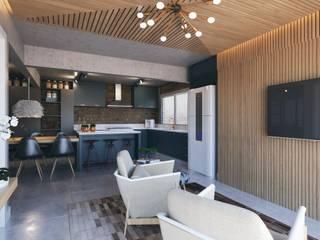 Apartamento 04: Cozinhas  por Entreponto Arquitetura