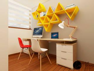 Estudio Infantil MB: Estudios y oficinas de estilo moderno por T+F Arquitectos
