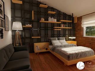 T+F Arquitectos Modern style bedroom