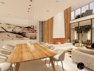 Casa SZ: Comedores de estilo moderno por T+F Arquitectos