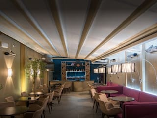 Huggamug Shisha Lounge Bares e clubes modernos por IS AND REN STUDIOS LTD Moderno